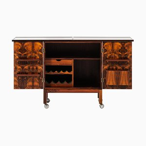Rosewood Bar Cabinet Model Times by Torbjørn Afdal for Mellemstrands Møbelfabrik, Norway, 1960s