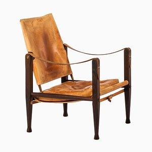 Chaise Safari par Kaare Klint pour Rud Rasmussen, Danemark, 1950s