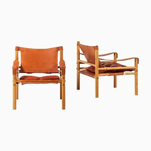 Model Sirocco Easy Chairs by Arne Norell, Sweden, 1960s, Set of 2