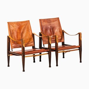 Safari Chairs by Kaare Klint for Rud Rasmussen, Denmark, 1950s, Set of 2