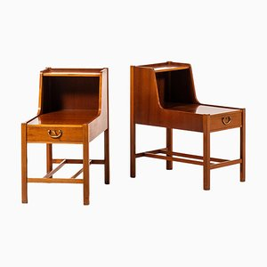 Nightstands by David Rosén for Nordiska Kompaniet, Sweden, 1950s, Set of 2