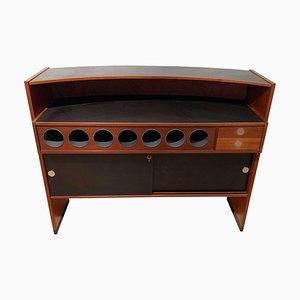 Mueble bar Mid-Century moderno de teca de Erik Buch para Dyrlund, Denmark, años 60
