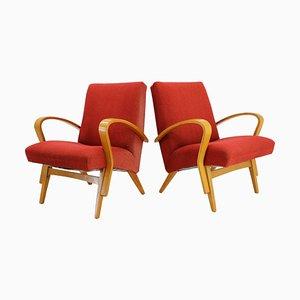 Bugholz Sessel von Frantisek Jirak, 1960er, 2er Set