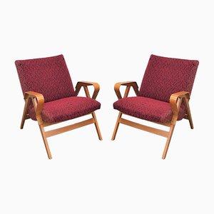 Model 24-23 Lounge Chairs by František Jirák for Tatra, 1960s, Set of 2