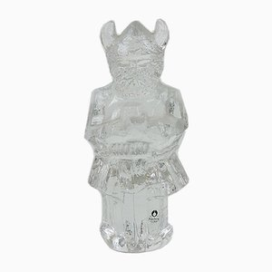 Schwedisches Vintage Schwedisches Wikinger Ornament von Pukeberg Crystal, 1970er