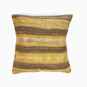 Marokkanischer Vintage Kelim Kissenbezug aus Wolle