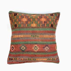 Vintage Moroccan Square Wool Kilim Cushion Cover