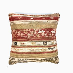 Vintage Moroccan Square Wool Kilim Cushion Cover