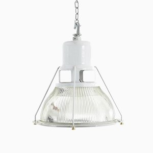 Industrial Pendant Light from Holophane, 1950s