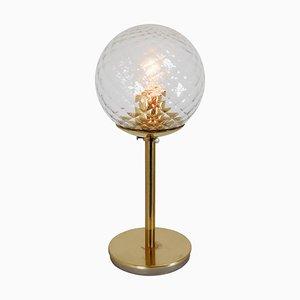 Moderne Mid-Century Messing Tischlampen mit Strukturglas, 1970er