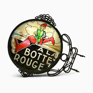 Antique Illuminated Sign A la botte rouge