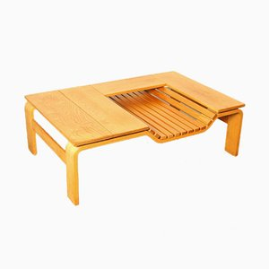 Table Basse Vintage avec Porte-Revues