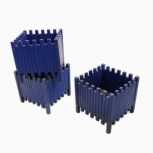 Blue Planters by Ettore Sottsassfor for Poltronova, 1961, Set of 3
