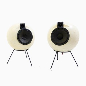 AS40 Elipson Speakers, 1970s, Set of 2