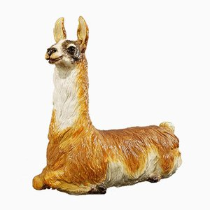 Large-Scale Glazed Ceramic Llama, Italy, 1970s