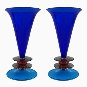 Vases by Ettore Sottsass for Formia, 1985, Set of 2