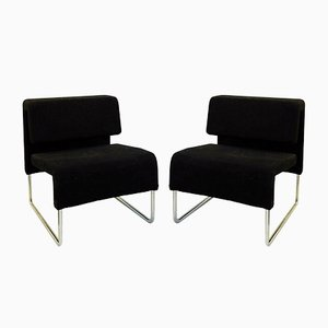 Black Armchairs Arte's, 2000s, Set of 2