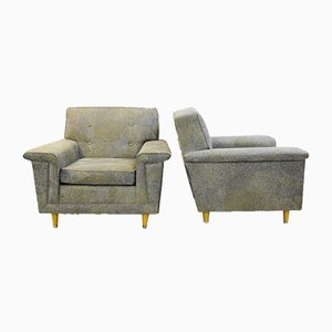 American Armchairs in Pierre Frey Collection Upholstery from Rowe, 1980s, Set of 2