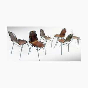 Chairs in the Style of Charlotte Perriand, 1970s, Set of 6