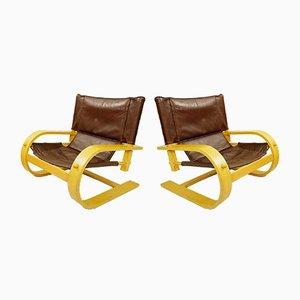 Scacciapensieri Armchairs by De Pas, d'Urbino & Lomazzi for Poltronova, Italy, 1970s, Set of 2