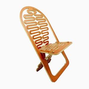 Prototipo de reposapiés Lumba europeo de contrachapado recortado o Puzzle Chair de Gregg Fleishman, años 70