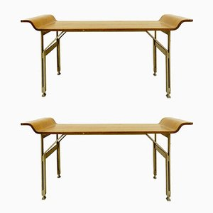 Italian Benches by Alberti Reggio Eugenia and Rinaldo Scaioli, 1960s, Set of 2
