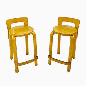 K65 Barstools by Alvar Aalto for Artek, 1930s, Set of 2