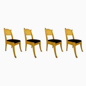Russian Biedermeier Chairs, Set of 4