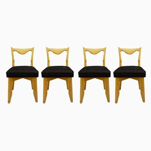 Dining Chairs by Guillerme et Chambron for Maison de France, 1960s, Set of 4