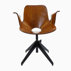 Medea Desk Chair with Swivel Base by Vittorio Nobili for Fratelli Tagliabue, 1950s