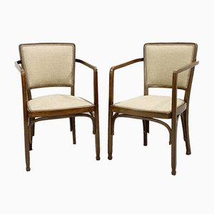 Vienna Secession Chairs by Gustave Siegel for J & J KOHN, Set of 2