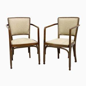 Wiener Secession Stühle von Gustave Siegel für J & J KOHN, 2er Set
