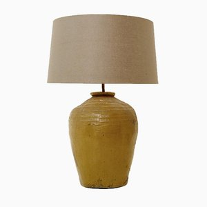 Large Terracotta Table Lamp, 1970s
