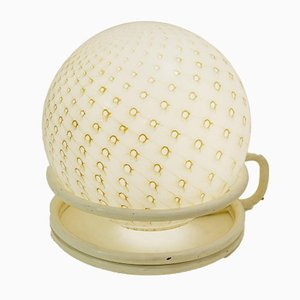 Italian Glass Sphere Table Lamp, 1970s