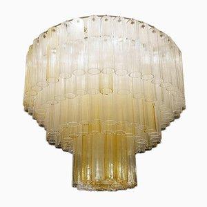Großer Kronleuchter aus Murano Glasröhrchen, 1960er