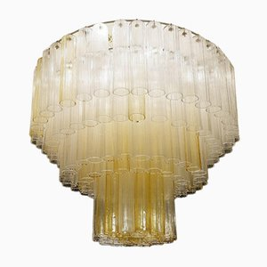 Large Murano Glass Tubes Chandelier, 1960s