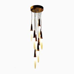 Lámpara colgante de Angelo Brotto, años 50