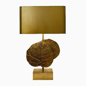 French Guadeloupe Lamp in Gilt Bronze by Maison Charles, 1970s