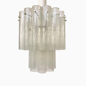 Italian Glass Ceiling Light, 1970s