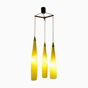 Long Murano Glass Pendant Light by Gino Vistosi for Vistosi, 1950s