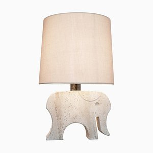 Travertine Elephant Table Lamp by Fratelli Mannelli, Italy, 1970s