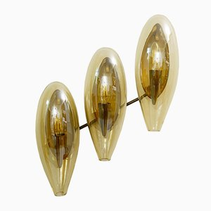 Italian Murano Smoked Glass Sconce, 1970s