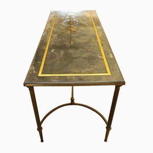 Tavolino da caffè in ottone, anni '70