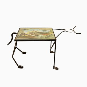 Wrought Iron Corrida Side Table, 1960s