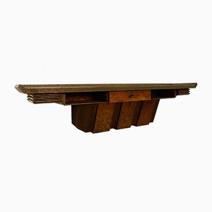 Large Wood Console by Pier Luigi Colli, Italy, 1950s