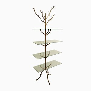 Wrought Iron Tree Shelf, 1960s