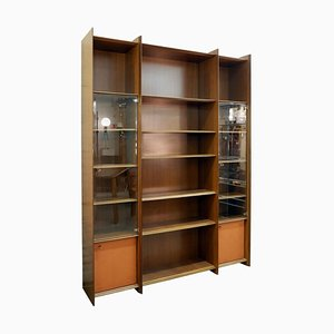Rosewood and Glass Artona Cabinet by Tobia & Afra Scarpa for Maxalto, 1975