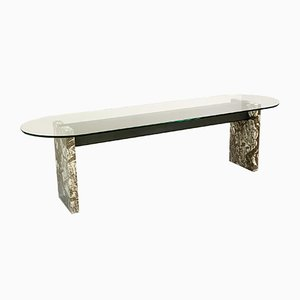 Marble, Steel & Glass Top Dining Table by Lazzotti for Up&Up, 1970s