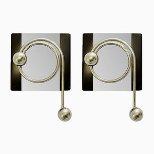 Coat Rack Mirrors, 1960s, Set of 2