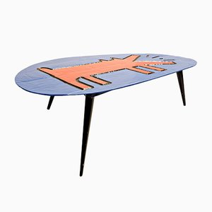 Tribute to Keith Haring Tripod Coffee Table from Paulos, 1998